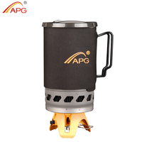 APG Cooking System Hiking Camping Backpacking Stove for Fast Boiling Fuel Efficient Cooking 1.4 Liter Gas Burners