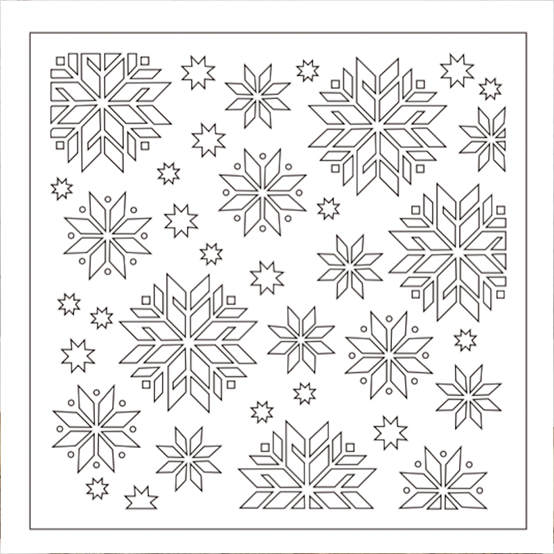 quot SNOWFLAKE quot Background Stencil For DIY Scrapbooking Handicraft Embellishments Card Album Photo Making Template Xmas Decoration in Embellishments from Home amp Garden