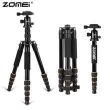 Wholesale prices Zomei Q666 Professional Camera Tripod Lightweight Portable Travel Aluminum Monopod With 360 Degree Ball Head For DSLR Camera