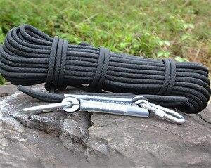 Image 5 - Profesjonalne wspinaczka przewód o średnicy 12mm długość 10 100m 18KN o wysokiej wytrzymałości z polipropylenu Paracord lina ratunkowa z 2 sztuk klamra