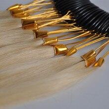 30 шт. человеческих волос цвет кольца для наращивания волос и салон окрашивания образец краски любой цвет диаграммы Swatch кольца