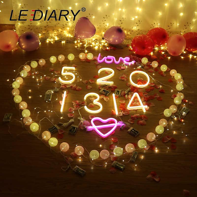 Светодиодный IARY 0-9 светодиодный номер ночные огни стены висит неоновый свет для детей игрушки украшение на годовщину настольная лампа USB кабель для аккумулятора