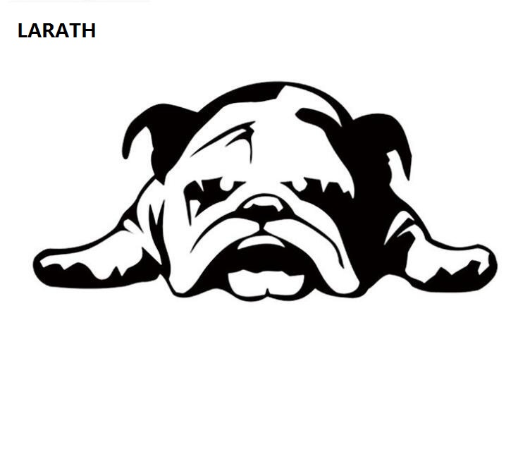 LARATH 1 PCS Auto Motorcycle Sticker English Bulldog Tired Puppy Dog Personalized Decorative Anti Scratch Sticker Car Styling
