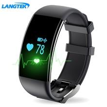 LANGTEK D21 Heart Rate Monitor Водонепроницаемый Умный Браслет Браслет Здоровья Фитнес-Трекер Шагомер для Android iOS часы браслет