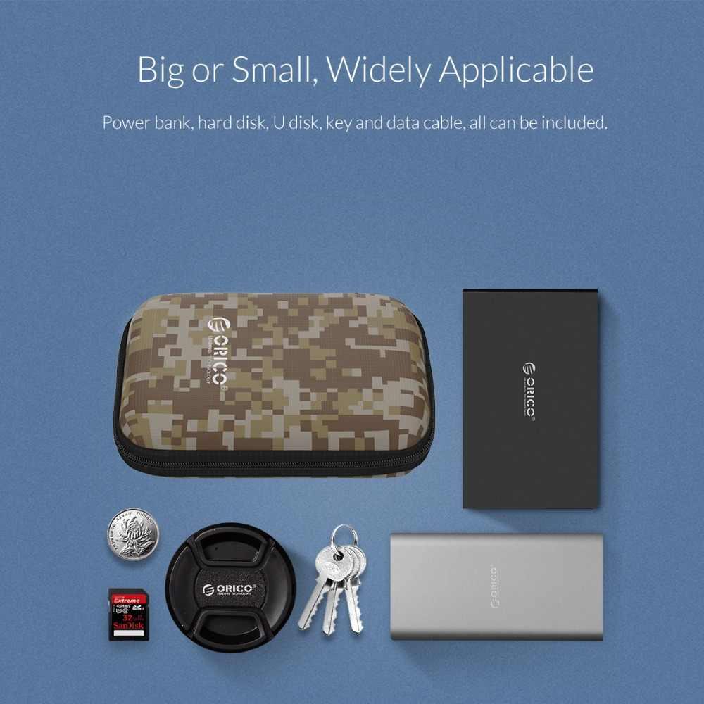 ORICO 2.5 بوصة حماية حقيبة ل قوة البنك HDD القرص الصلب SSD محرك المحمولة حامي الضميمة حافظة كامو رمادي/أزرق/أسود