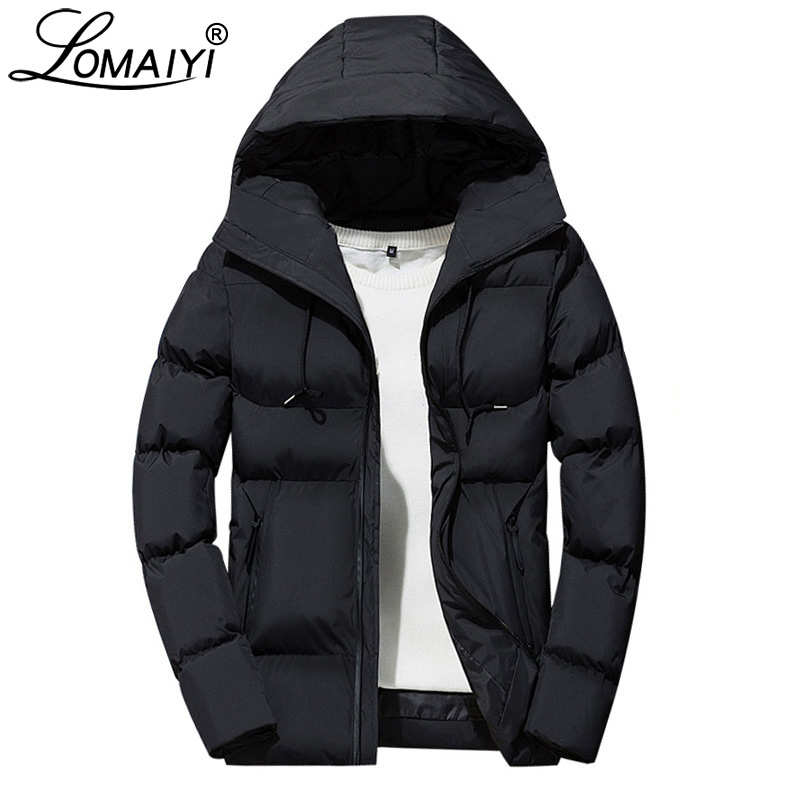 LOMAIYI Men's Winter Jacket Men Thick Warm Korea Coat Mens Casual Cotton-Padded   Parka   Homme Windbreakers Male Clothes 2018 BM285