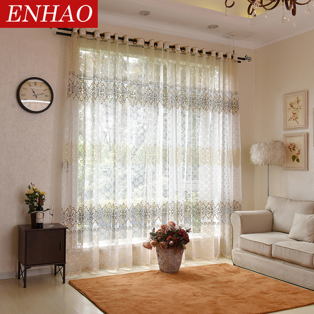 Floral Modern Sheer Tulle Curtains 2