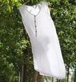 Johnature mulheres de linho de algodão longo colete top 2017 novo verão sem mangas em torno do pescoço tamanho mais solto cor sólida tanques do vintage