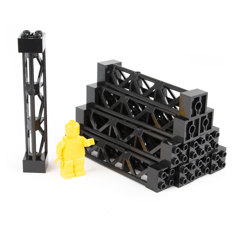 MOC City Parts Building Blocks Train Car Pillar Support Girder Column Beam Military Bricks DIY Toys Compatible Tower C017 in Stacking Blocks from Toys Hobbies