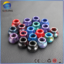 Sailing vape Epoxy resin drip tips multi color electronic cigarette top cap for mostly 22mm RDA RDTA atomizer