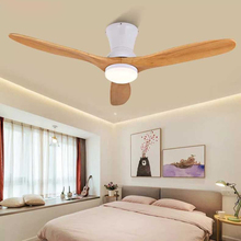Nordic Ceiling Fan Light 52 Inch Simple Living Room Dining Bedroom wooden Multi-Optional Home