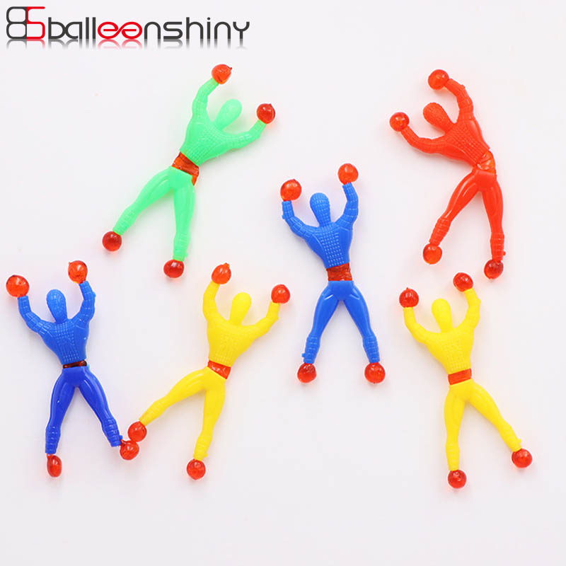 BalleenShiny 5PCS Baby Sticky Wall Men Toys Elastic Funny Child Kids Toys Stretchy Wall Climbing Super Hero Educational Toys