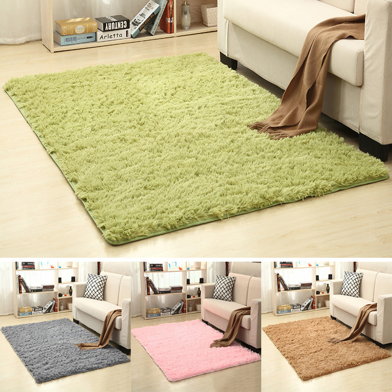 Soft Silk Shaggy Carpet For Living Room Nordic Home Warm Plush Floor Fluffy Mat Kids Room Area Crawling Mat Bedroom Faux Fur Rug