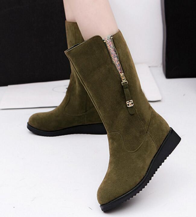 Frau Plattform Zunehmende Damen Mädchen Black green G61216 Frauen Für Winter Pumpen Freizeitschuhe gray Höhe Schneeaufladungen Mujer Zapatos nEqUxI8Bn