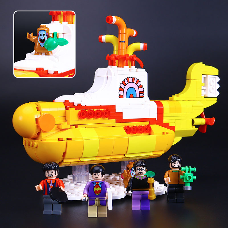Lepin 21012 Movie Series The beautiful submarine Set legoing 21306 Building Blocks Bricks Toys Model For Kids Birthday Gifts 12 style one piece diamond building blocks going merry thousand sunny nine snakes submarine model toys diy mini bricks gifts