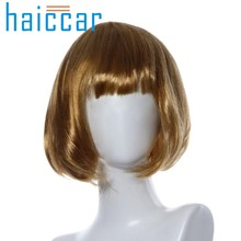 HOT SALE Cosplay Short BOB Wigs Masquerade Small Roll Bang Short Straight Hair Wig Womens Brown Natural Hair Wigs Female Dec24(China)