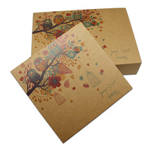 15Pcs/Lot Brown Kraft Paper Package Boxes With Drawer Wedding Party Gift Paper Packing Printing Box Carton Paperboard Packaging(China)