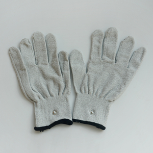 Image 4 - 200 Pairs Slivery Fiber Conductive Massage Gloves Use For TENS/EMS Machines