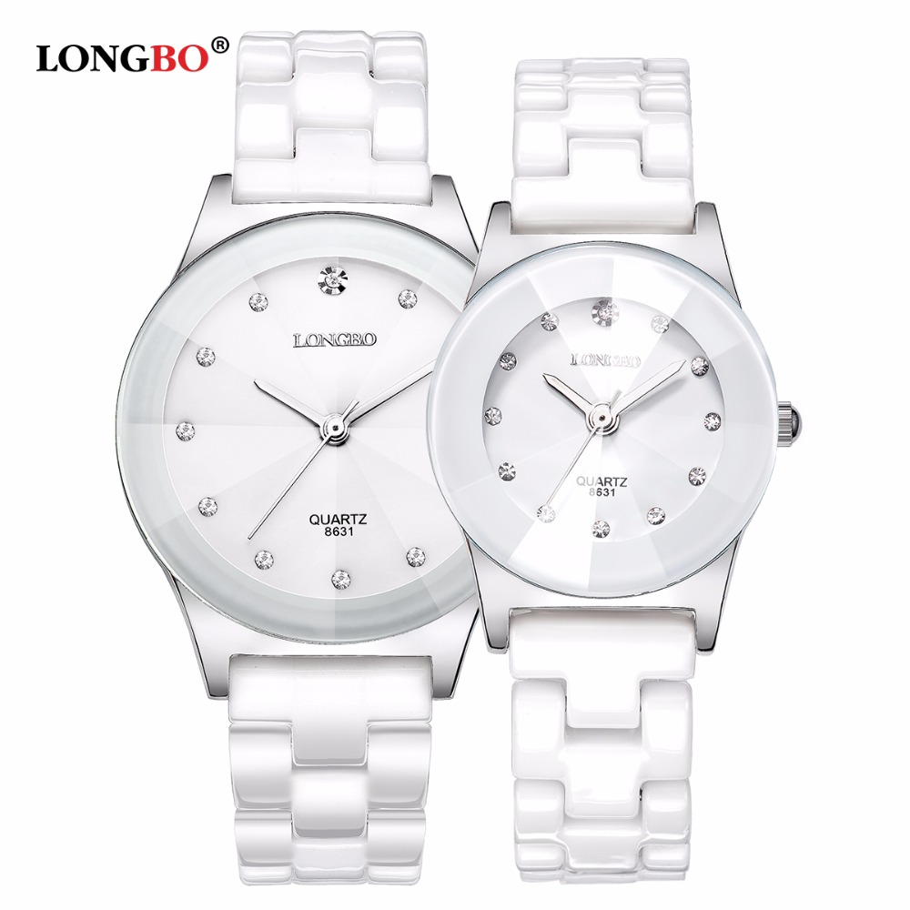2017 Luxury Brand LONGBO Men Women Ceramic Watch Fashion Geneva Couple Watches Male Quartz Wrist Watches Relojes Mujer Gift 8631
