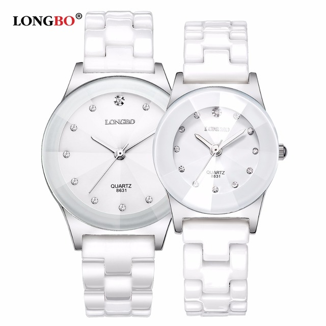 2017 Luxury Brand LONGBO Men Women Ceramic Watch Fashion Geneva Couple Watches M