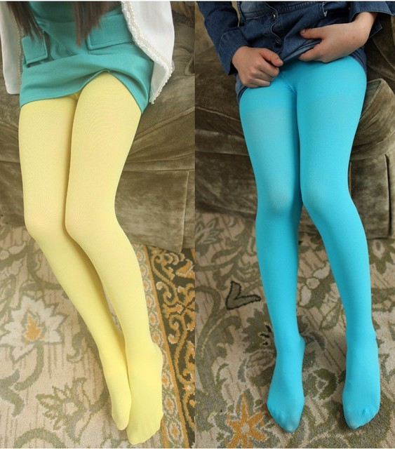 Girls candy color tights