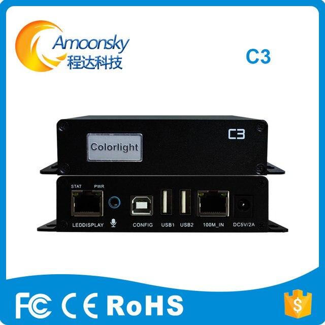 Colorlight c3 video player LED Hiển Thị Máy Nghe Nhạc Không Đồng Bộ DẪN tên người gửi hộp Max hỗ trợ 655360 pixels Colorlight C3