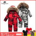 Marca Orangemom oficial 2019 ropa para niños, chaqueta de invierno 90% para niñas niños ropa de nieve, bebé niños abrigos mono