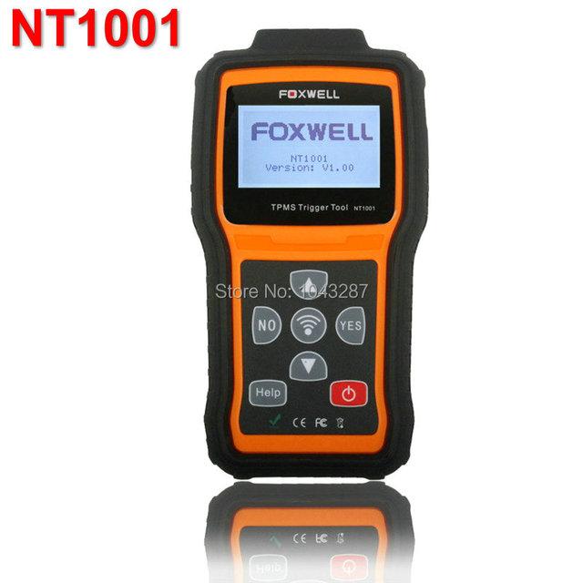 Foxwell NT1001 TPMS Gatilho & Sensor de TPMS Ferramenta De Diagnóstico de Apoio Decoder Inglês Francês Alemão Espanhol Holandês Atualização Online