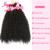 Encierro Del Pelo humano Con Flequillo Envío Libre Productos Para El Cabello Rosa afro Rizado Pelo rizado 3 Paquetes Con Cierre, armadura Pieza de Cierre
