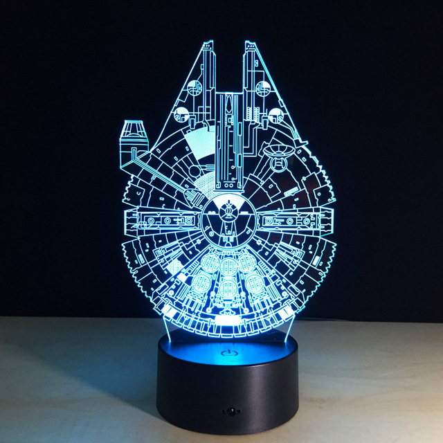 Star Wars Star Trek 3d Led Night Light Colorful Acrylic Usb Led