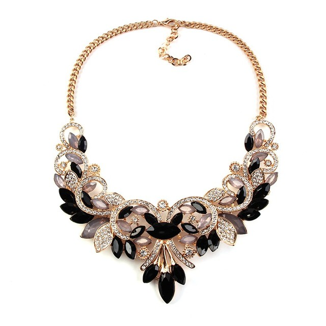 New Arrival Spring Colorful Crystal Women Brand Maxi Statement Necklaces& Pendants Vintage Turkish Jewelry Necklace  2605