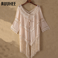 f81a0b0ef0044 RUUHEE Cove-Up Sexy Women See-through Lace Bathing Suit Swimsuit Cover Ups  Crochet