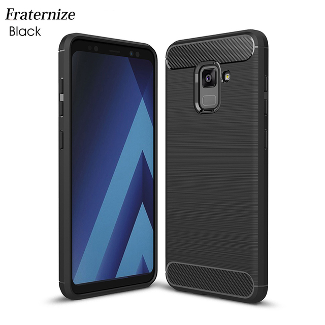 save off b8920 abe19 US $1.99 10% OFF|Phone Cases for Samsung Galaxy A8 2018 Case Carbon Fiber  Anti knock Soft Tpu Back Cover for Samsung A8 Plus 2018 Capa Coque-in  Fitted ...