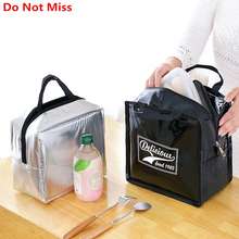 PU Leather Lunch Package Ice Pack Thermo Thermal Bag for Women Kids Lunchbags Tote Cooler Box Insulation Picnic Bags