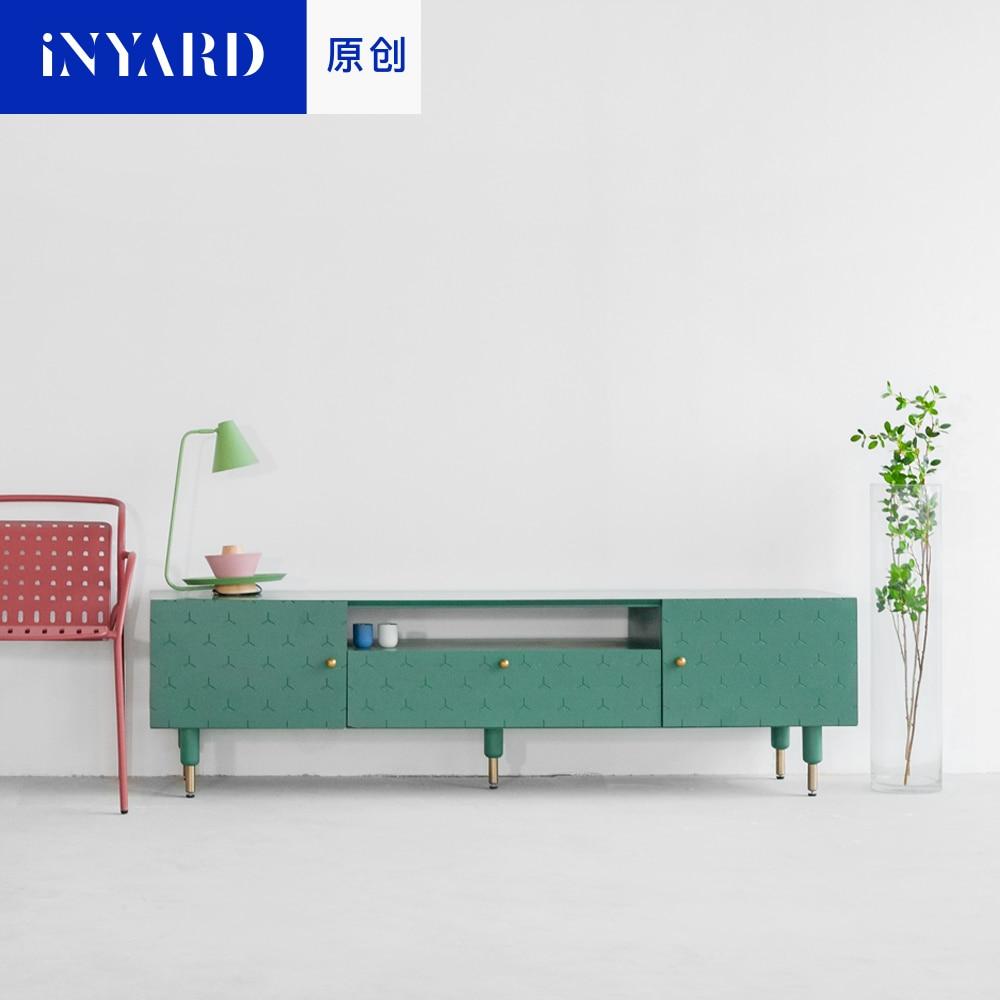Redelijk [inyard Originele] Groen En Wit Hout, Metalen Handgrepen, Tv Kasten, Nordic Fashion Home Woonkamer, Kasten