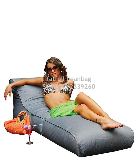 COBRIR APENAS, sem enchimento de jardim Ao Ar Livre cadeira de praia, cadeira beanbag assento do sofá à prova d' água, home da mobília do pátio, dobra portátil saco do saco de feijão