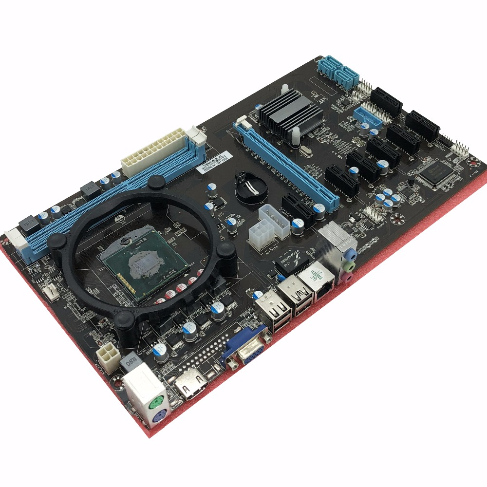 ETH miners (with cpu)motherboard 8 graphics card motherboard large board 6 7 8 GPU CARDS Better than H81 Pro BTC board