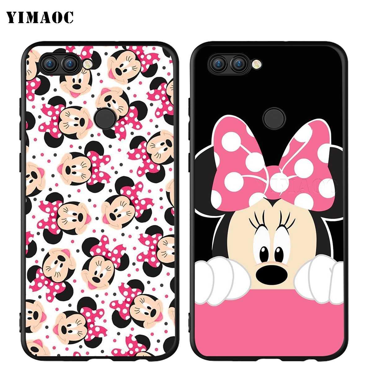 YIMAOC Minnie Ragazze Del Mouse Sveglio per il Caso di Huawei Honor Compagno P smart Y7 Y9 8C 30 20 10 8x Nova 3i 3 Lite Pro Prime 2018 2019