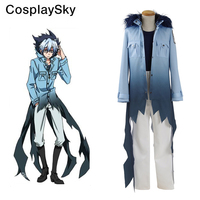 Servamp Sleepy Ash Vampire Cosplay Costumes hooded Coat blue Shirt White Pants Halloween Uniform For Men Suits
