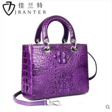 купить jialante New crocodile skin  Ladies bag Thai leather hand cross body bag European and American style women  bag дешево