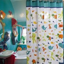 Waterproof Bath Curtains Bathroom Cartoon Fish Shower Curtain Bathtub Bathing Cover Extra Large Wide 12 Hooks cortina de banho