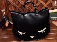 Sleep Shy Cute Cat Women Bag Cat Ear Lady Bags PU Leather Women Handbags 20pcs Lot