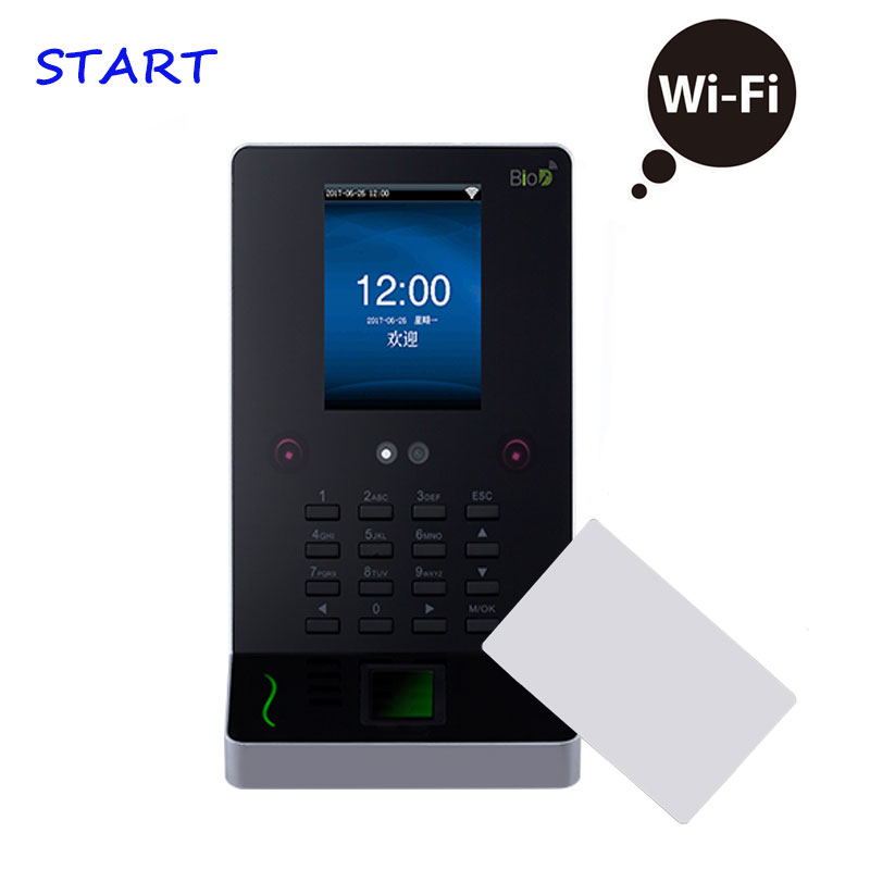 UF600 Face Recognition Time Attendance Access Control 13.56Mhz Card Facial And Fingerprint Employee Attendance Time Clock