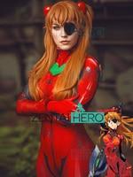 Free Shipping 3D Printed Asuka 3.0 Evangelion Cosplay Costume EVA Asuka Shikinami Langley Plugsuit Superhero Halloween Costume