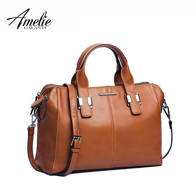 AMELIE GALANTI 2017 модный бренд женская сумка подушку твердые молния мягкие случайные топ-ручка сумка экологичный pu материал старинные 3 цвета 2016