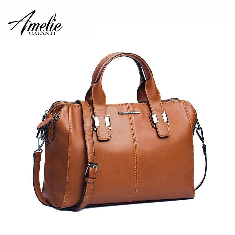 AMELIE GALANTI Fashion Brand Women Handbag pillow solid zipper soft casual top-h