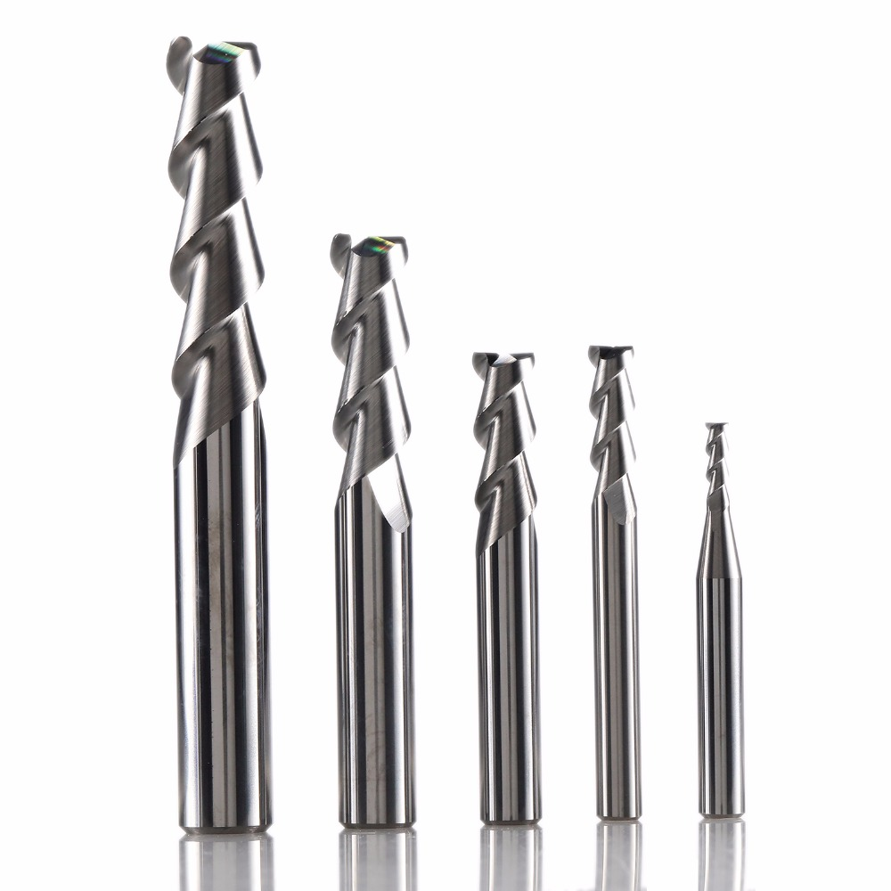 1pc ZCC.CT Cnc End Mills Aluminium Milling Cutter AL-2E AL-2EL 2 Flutes Square Head Cutting Tools Solid Carbide End Mill For Al