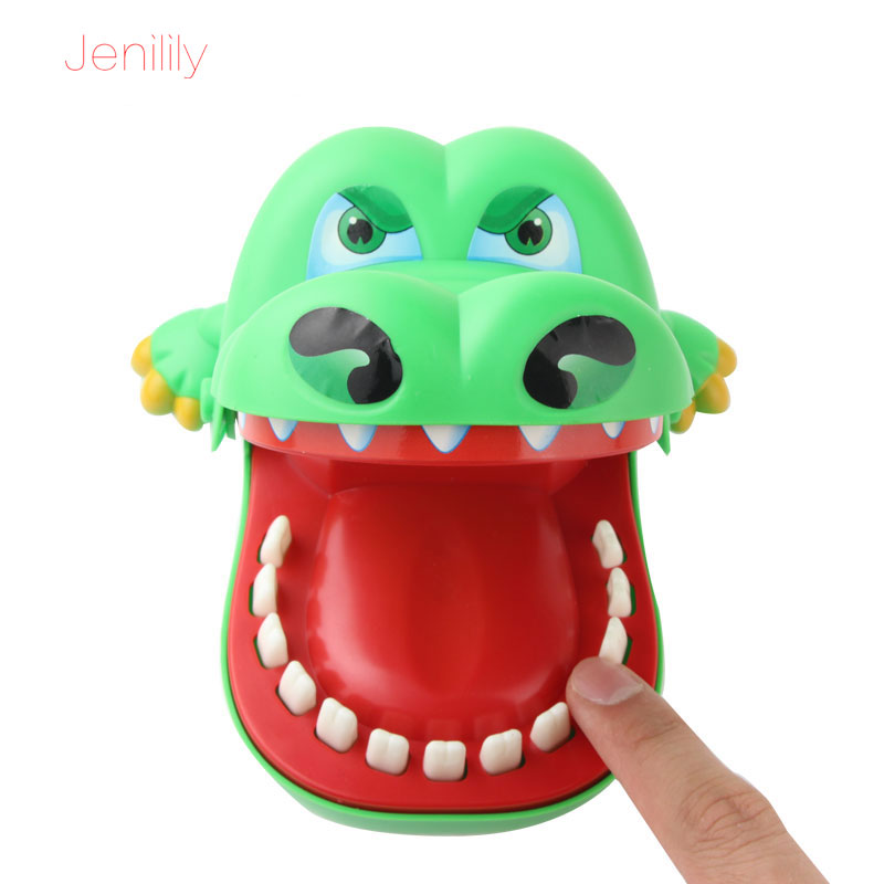Jenilily Large Bulldog Crocodile Shark Mouth Dentist Bite Finger Game Funny Novelty Gag Toy for Kids Children Play Fun JN1621