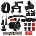 24 в 1 Велосипед Крепление Аксессуары Combo Kit для GoPro HERO4 сессия 4 3 + 3 2 1 Пряжки Штатив Адаптер Руль крепление