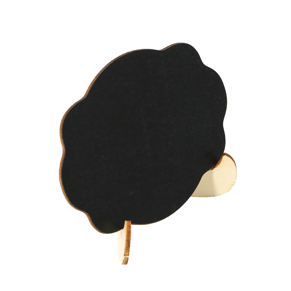 Radient 20 Pcs Cloud Vorm Houten Mini Blackboard Bericht Board Wedding Party Decorations Krijtborden Tafel Nummers Stand Naam Display